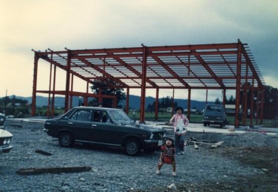 桑原自動車工場建設時